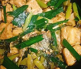 油豆腐焖鱼腩的做法