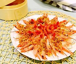 粤菜-蒜蓉粉丝蒸开边虾的做法