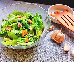 蒜味生菜的做法