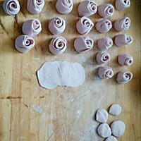紫薯玫瑰小馒头的做法图解3