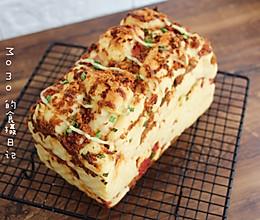#硬核菜谱制作人#香葱培根肉松吐司的做法