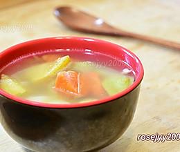咸猪骨炖苹果汤的做法