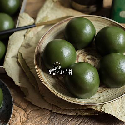 【青团(艾草版)】猪油红豆馅入