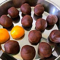 蛋黄豆沙月饼的做法图解4