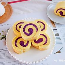 #好吃不上火#紫薯芋泥蛋糕卷