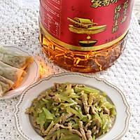 #福气年夜菜#清爽好吃的莴苣炒榨菜肉丝的做法图解11