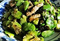 蚕豆瓣炒雪菜的做法