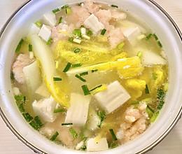 【虾滑白菜豆腐汤】的做法