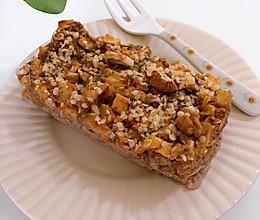 苹果燕麦蛋糕|微波炉版的做法