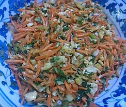 胡萝卜做的美味饺子馅的做法