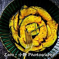 椰香蒜蓉烤南瓜片(超级快手营养小零食)的做法图解4