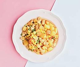 菠萝干+菠萝酸奶果昔+菠萝鸡胸肉的做法
