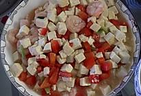 豆腐红椒烩虾仁的做法