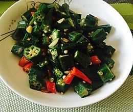小米椒炒秋葵的做法