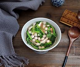 青菜咸汤圆的做法