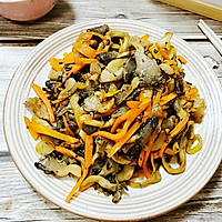 干香胡萝卜炒平菇的做法图解9