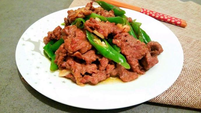 滑嫩青椒牛肉片