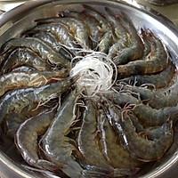 蒜蓉蒸虾粉丝的做法图解2