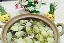 008潮汕五花肉土豆酸菜砂锅煲的做法