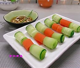 黄瓜胡萝卜卷的做法