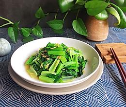 小白菜炒虾皮——补钙的做法