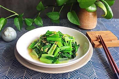 小白菜炒虾皮——补钙