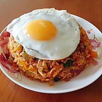 减肥餐--辣白菜时蔬糙米饭的做法图解6