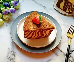 斑马纹戚风蛋糕(8寸)#新年自制伴手礼,红红火火一整年!#的做法