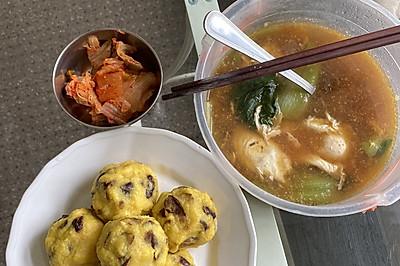 DIY减肥食谱—西红柿油菜鸡蛋汤