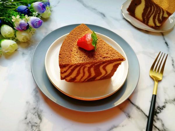 斑马纹戚风蛋糕(8寸)的做法
