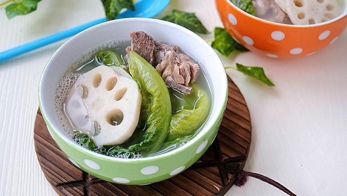 莲藕生菜骨头汤