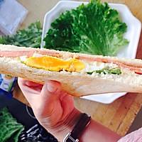 鸡蛋火腿三明治的做法图解13