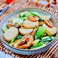 #一道菜表白豆果美食#杏鲍菇虾干青菜小炒的做法图解14