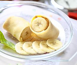 辅食日志 | 香蕉蛋饼卷(10M+)的做法