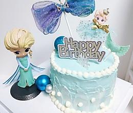 6寸生日蛋糕冰雪奇缘蛋糕女生蛋糕的做法