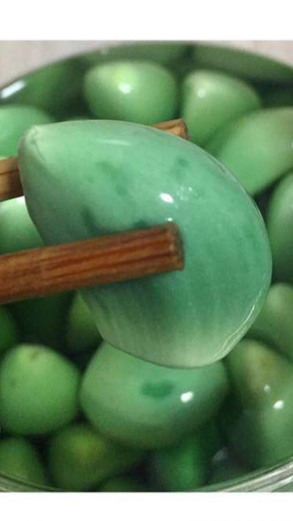 翠绿腊八蒜的做法