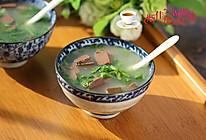 萝卜缨鸭血汤的做法