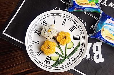 #安佳儿童创意料理#小花妹妹,来吃早餐啦