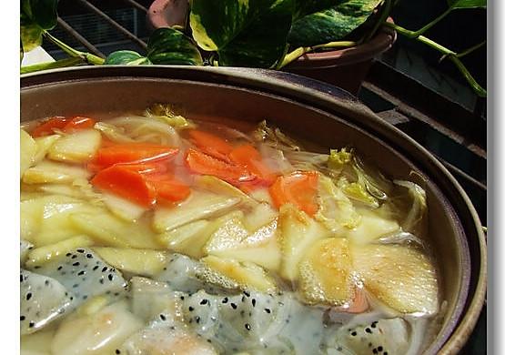 清肠塑身美味佳肴——杂果疏菜煲
