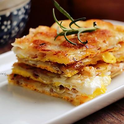 饺子皮变身葱油饼