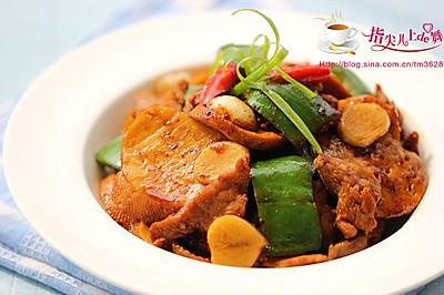 【膳食】素鸡青椒肉片