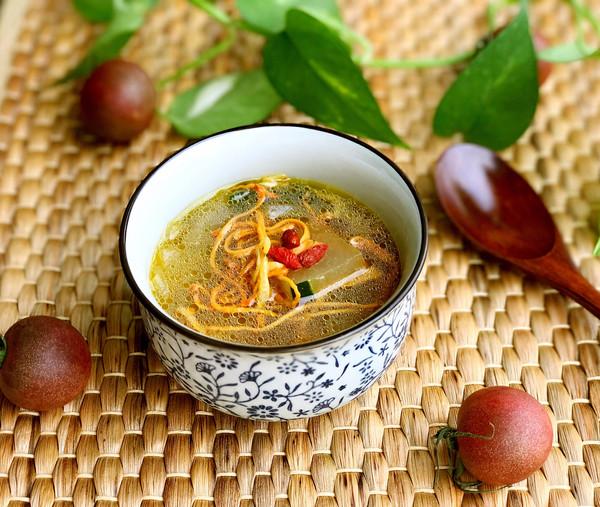 虫草花冬瓜虾皮汤的做法