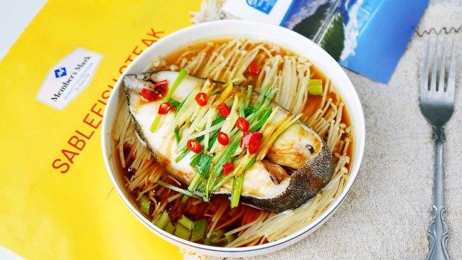 金针菇蒸鳕鱼的做法