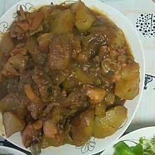 #美食视频挑战赛# 奥尔良鸡腿炖土豆