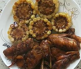 #我们约饭吧#可乐鸡翅玉米的做法