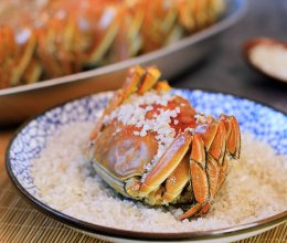 盐烤大闸蟹的做法