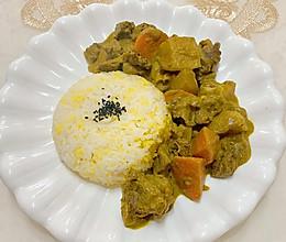 咖喱土豆牛腩饭的做法
