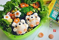咖喱饭团-小刺猬#咖喱萌太奇#的做法