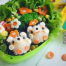 咖喱饭团-小刺猬#咖喱萌太奇#