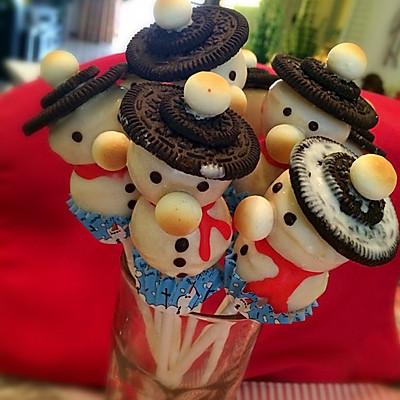 小雪人棒棒糖蛋糕